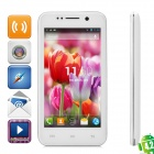 "THL W100S Android 4.2 Quad-Core WCDMA Bar Phone w/ 4.5"" Capacitive Screen, Wi-Fi and GPS - White"