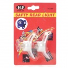 White Light 2-Mode Tie-On Bike Light Keychains (2-Keychain Set)