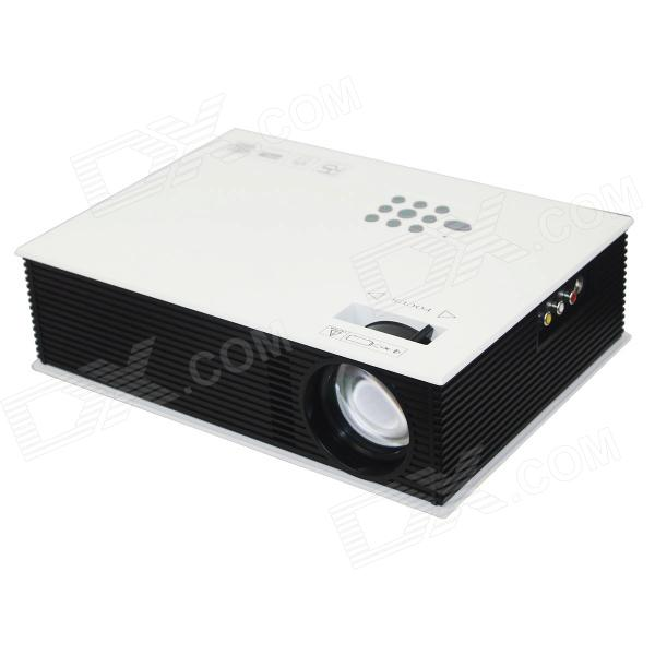 RuiQ RQ80 1500 Lumens Native 800x480 LED Projector w/ AV / VGA / HDMI / USB / SD / TV - White+Black