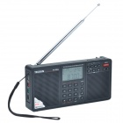 Tecsun PL-398MP 2.2'' Full Band Digital Tuning Stereo Radio Receiver w/ Stand and MP3 Player - Black
