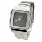 LOCCE 066 Square Roman Numerals Dial Men Quartz Watch  -Silver + Black (1 x SR626SW)