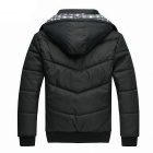 Men's Winter Thick Cotton Jacket - Black (L)