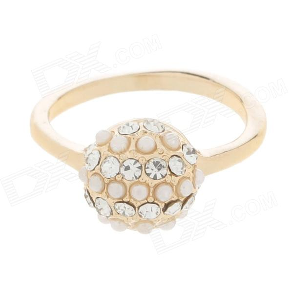 Fashion rhinestone decoration zinc alloy women 39 s rings for 5 golden rings decorations