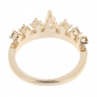 Fashion Crown Style Rhinestone Decoration Women's Rings - Golden (US Size:8.5)