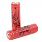 "UranusFire 14500 ""1000mAh"" 3.7V Li-ion Batteries w/ Case - Red (2 PCS)"