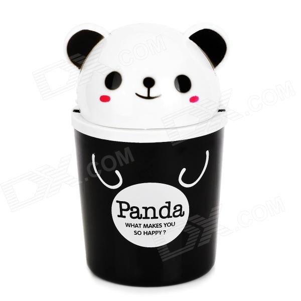 Panda Style Cute Tissue Roll Box / Small Gadget Trash - Black чехол для карточек cute panda дк2017 117