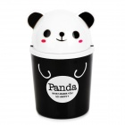 Panda Style Cute Tissue Roll Box / Small Gadget Trash - Black