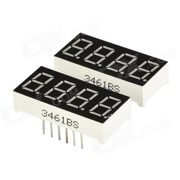 DIY 0.36 4-Digit Digital 7-segment Display - Black (2 PCS) lson 0 4 8 digit 7 segment digital display module deep blue 5v