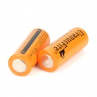 "UranusFire Rechargeable 3.7V ""6000mAh"" Li-ion 26650 Batteries - Orange (2 PCS)"