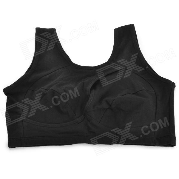 B074 Sport Fashion Cotton + Spandex Concentrating Breast Shaping Bra - Black