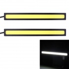 5W 375lm COB LED White Light Car Daytime Running Lamp - (12V / 2 PCS)