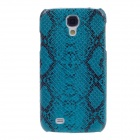 SAYOO 2320 Snakeskin Pattern Protective PU Leather Back Case for Samsung Galaxy S4 i9500 - Sapphire