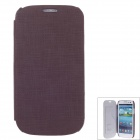 SAYOO 2380 Small Stone Pattern Protective PU Leather Case Cover for Samsung Galaxy S3 i9300 - Brown