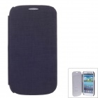 SAYOO 2379 Small Stone Pattern Protective PU Leather Case Cover for Samsung Galaxy S3 i9300 - Black