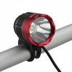 Buy SingFire SF-820 800lm White 4-Mode Bicycle LED Headlight Headlamp - Deep Grey + Red (4 x 18650)