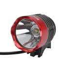 SingFire SF-820 800lm White 4-Mode Bicycle LED Headlight Headlamp - Deep Grey + Red (4 x 18650)