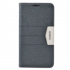 XUNDD Mango Series Plastic + PU Leather Case Cover Stand for Samsung Galaxy Note 3 N9000 - Black