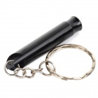 Creeper Outdoor Sport Emergency Aluminum Alloy Whistle - Black