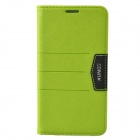 XUNDD Mango Series Plastic + PU Leather Case Cover Stand for Samsung Galaxy Note 3 N9000 - Green