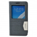 XUNDD Protective PU Leather Case Cover Stand w/ Visual Window for Samsung Galaxy Note 3 - Black