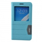 XUNDD Protective PU Leather Case Cover Stand w/ Visual Window for Samsung Galaxy Note 3 - Light Blue