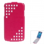SAYOO 2328 Protective PU Leather Case Cover for Samsung Galaxy S4 i9500 - Deep Pink