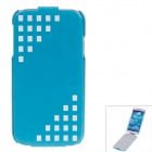 SAYOO 2327 Protective PU Leather Case Cover for Samsung Galaxy S4 i9500 - Blue