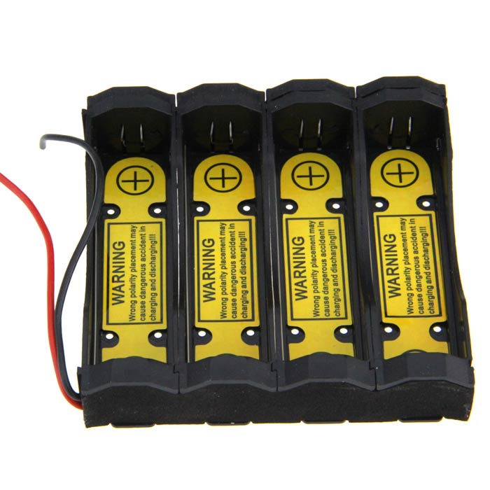 4-Slot Intelligent Universal Battery Holder - Black (3.7V) free shipping the third generation of the whole intelligent large capacity without oil electric deep fryers
