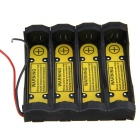 4-Slot Intelligent Universal Battery Holder - Black (3.7V)