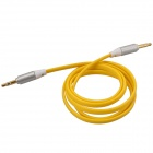 3.5mm TRS Male to Male Flat Audio Connection Cable - Yellow (103cm)