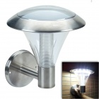 CMI LEH-44028 0.3W 15-LED Solar Wall Light / Garden Lamp - Silver