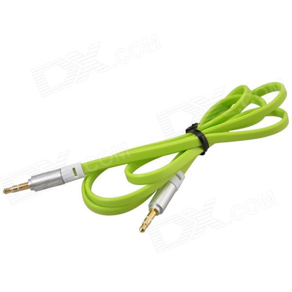 3.5mm TRS Male to Male Flat Audio Connection Cable - Green (103cm) кабель инструментальный vovox link direct s350 trs trs