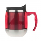 D016 Stainless Steel Vacuum Cup Bottle w/ Handle - Red + Black + Silver (500mL)