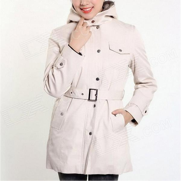 Lady's Thick Cotton Coat - White (L)