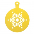 DIY Cake Decoration Christmas Tree Leave Pattern Printing Mold - Yellow