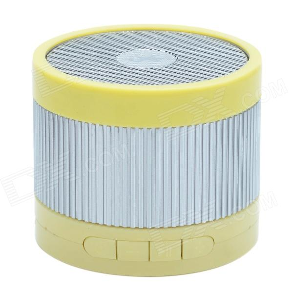 EWA A105 Mini Portable Bluetooth Speaker w/ TF / Handfree Function - Yellow + Silver t050 3w mini portable retractable stereo speaker w tf black golden 16gb max