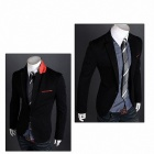 Monseden 9011 Leisure Men's Suit Jacket -Black (Size L)