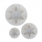 DIY Snow Style Cookies Mold - White (3 PCS)