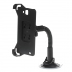 360 Degree Rotation Suction Cup Holder w/ H05 Bracket for Samsung Galaxy Mega 6.3 i9200 - Black