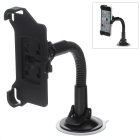 360 Degree Rotation Suction Cup Holder w/ H05 Bracket for Iphone 5C - Black