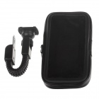 "M08 360 Degree Rotation Bracket w/ Waterproof PU Leather Bag for i9200 6.3"" Mobile Phone - Black"