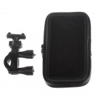 "M06 360 Degree Rotation Bracket w/ Waterproof PU Leather Bag for i9200 / 6.3"" Mobile Phone - Black"
