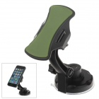 360 Degree Rotation Holder Mount w/ H17 Suction Cup + C71 Paste Back Clamp for Mobile - Black+ Green