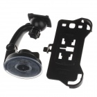 360 Degree Rotation Holder Mount w/ H17 Suction Cup + Back Clamp for Samsung Galaxy S3 i9300 - Black