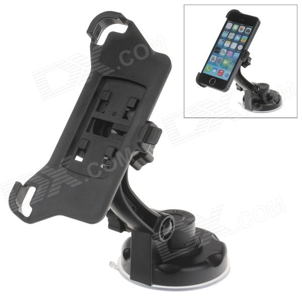 360 Degree Rotation Holder Mount w/ H17 Suction Cup + Back Clamp for Iphone 5 - Black h08 360 rotation 4 port suction cup holder w silicone back clip for iphone 4 4s 5 ipad mini ipod