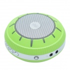 EWA E305 UFO Style Portable Bluetooth Speaker + Smart Voice/ Handfree Calling - Green + Silver