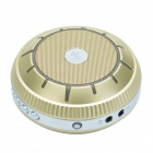 EWA E305 UFO Style Portable Bluetooth Speaker + Smart Voice/ Handfree Calling - Golden + Silver