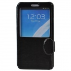 Stylish Protective PU Leather + Plastic Case with Display Window for Samsung Galaxy Note 3 - Black