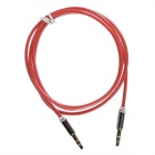 3.5mm TRS macho a macho Glow-in-the-Dark Green Light Audio Extender Cable - de color rosa oscuro (103cm)