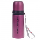 JINWANG 8106-A Bullet Shape Tailless Stainless Steel Vacuum Cup Bottle - Purplish Red (350mL)